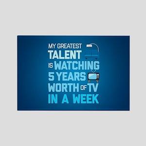Greatest Talent Emoji Rectangle Magnet