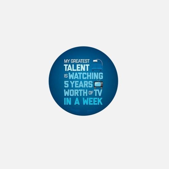 Greatest Talent Emoji Mini Button