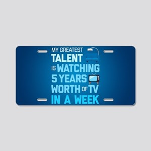 Greatest Talent Emoji Aluminum License Plate