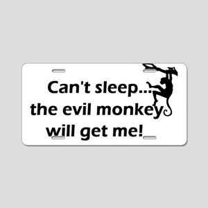 Cant sleepmonkey_silhouette Aluminum License Plate