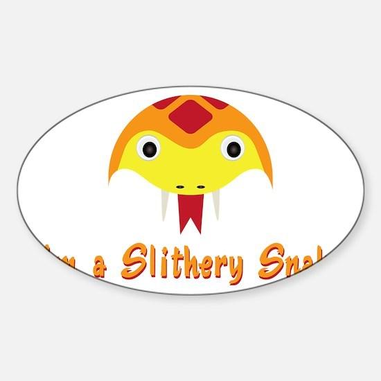 Slithery Snake Sticker (Oval)