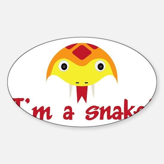 Im a snake Sticker (Oval)