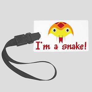 Im a snake Large Luggage Tag