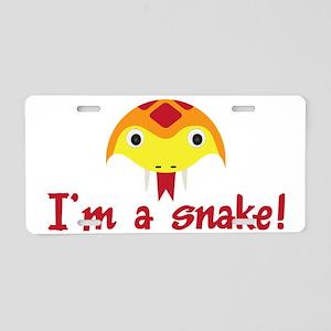 Im a snake Aluminum License Plate