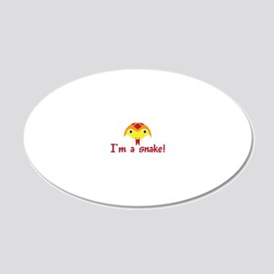 Im a snake 20x12 Oval Wall Decal
