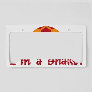 Im a snake License Plate Holder