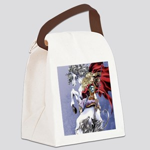 Anime Warrior on Horseback83 Canvas Lunch Bag