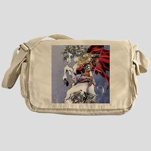 Anime Warrior on Horseback83 Messenger Bag