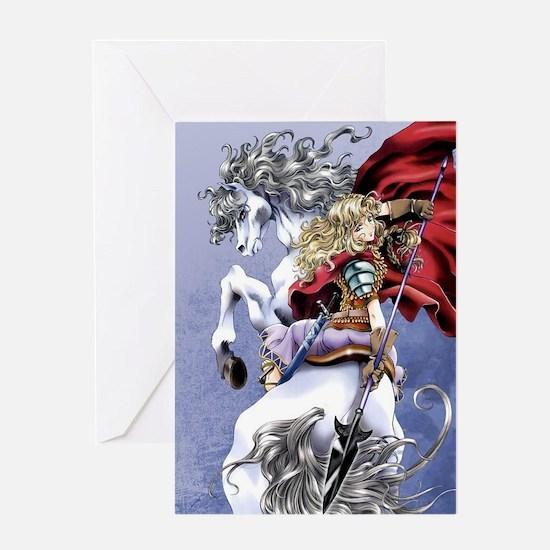 Anime Warrior on Horseback83 Greeting Card