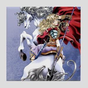 Anime Warrior on Horseback83 Tile Coaster