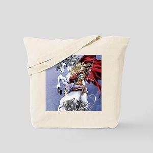 Anime Warrior on Horseback83 Tote Bag
