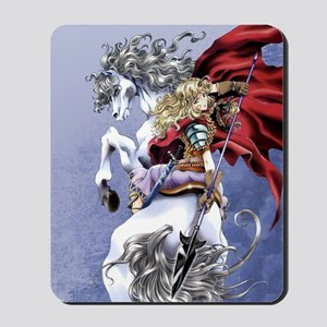 Anime Warrior on Horseback83 Mousepad