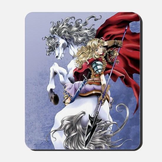 Anime Warrior on Horseback83 Mousepad