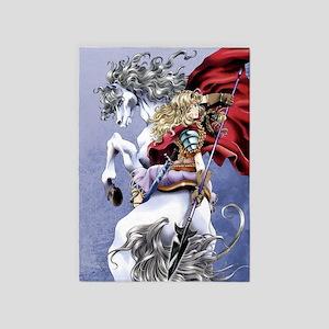 Anime Warrior on Horseback83 5'x7'Area Rug
