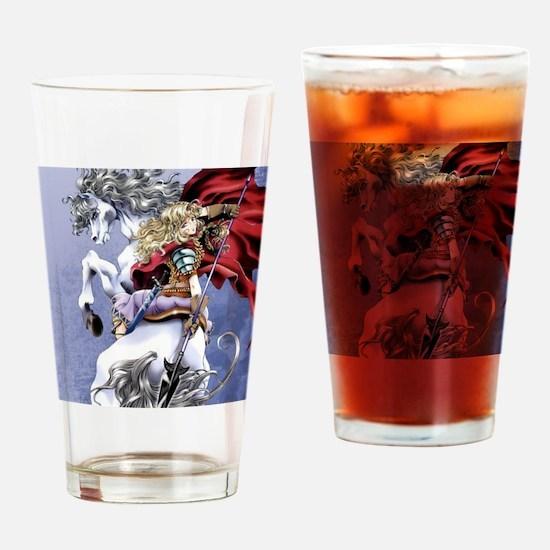 Anime Warrior on Horseback83 Drinking Glass
