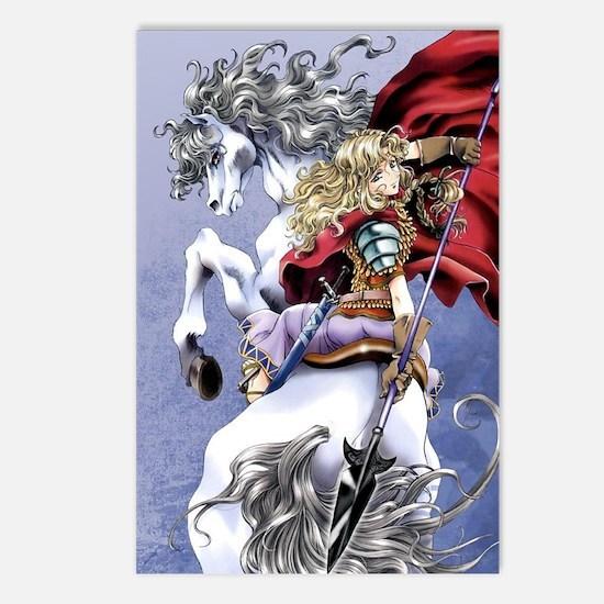 Anime Warrior on Horsebac Postcards (Package of 8)