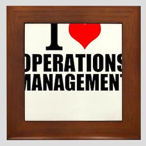 I Love Operations Management Framed Tile