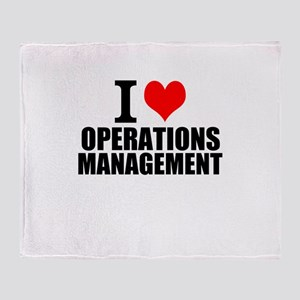I Love Operations Management Throw Blanket
