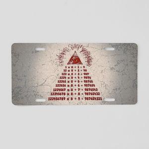 mathemagic-OV Aluminum License Plate