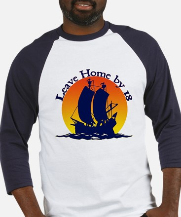 Leave Home by 18 (Blue/White Baseball Jersey)