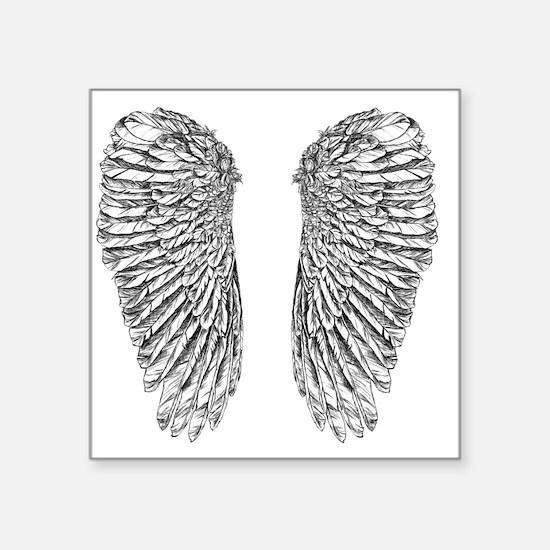 "Angel Wings Square Sticker 3"" x 3"""