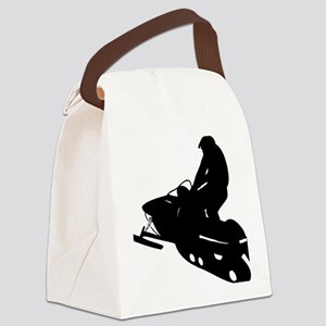 snowmobile01 Canvas Lunch Bag