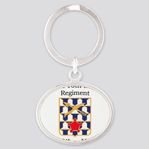 2nd Bn 16th Infantry Oval Keychain