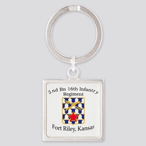2nd Bn 16th Infantry Square Keychain