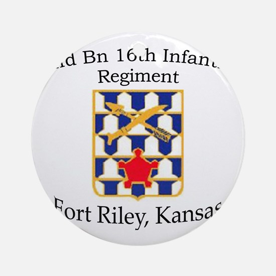2nd Bn 16th Infantry Round Ornament