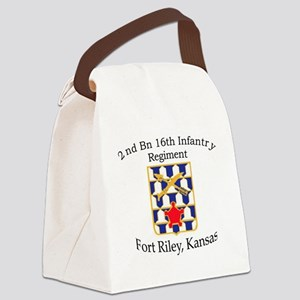 2nd Bn 16th Infantry Canvas Lunch Bag