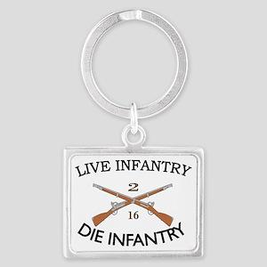 2nd Bn 16th Infantry cap2 Landscape Keychain
