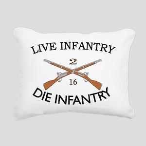 2nd Bn 16th Infantry cap Rectangular Canvas Pillow