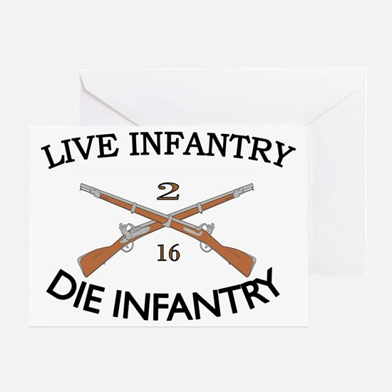 2nd Bn 16th Infantry cap2 Greeting Card