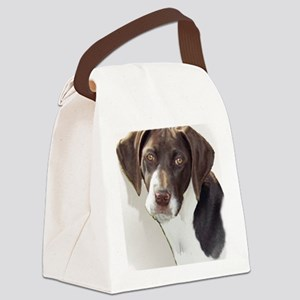 german shorthair pointer portait Canvas Lunch Bag