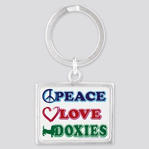Peace-Love-Doxies Landscape Keychain