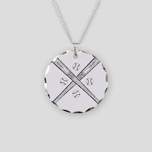 baseball01 Necklace Circle Charm
