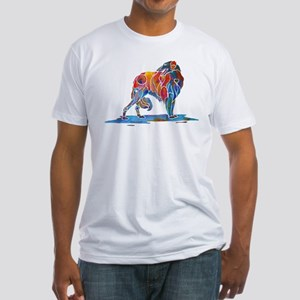 Borzoi in Many Colors Fitted T-Shirt