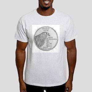 2007 Idaho State Quarter Ash Grey T-Shirt