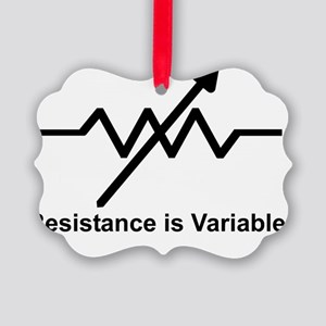 variable resistor Picture Ornament
