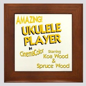 Funny Ukulele Framed Tile