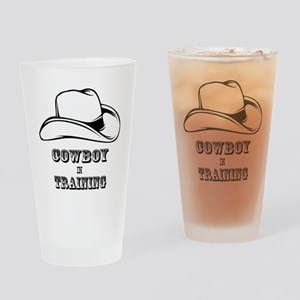 COWBOY IN TRAINING 1 Drinking Glass