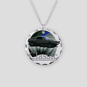 67 Ford Mustang Necklace Circle Charm