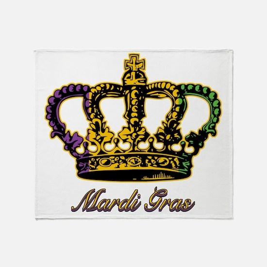 MardiGrasFCrown4tyTR Throw Blanket