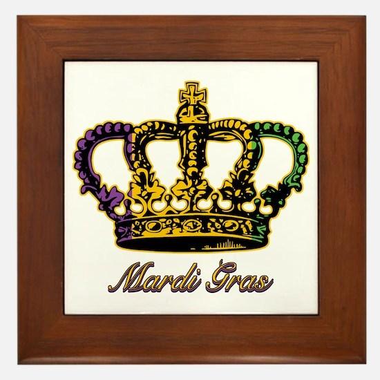 MardiGrasFCrown4tyTR Framed Tile