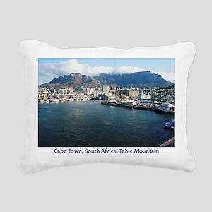 Table Mountain Title Rectangular Canvas Pillow