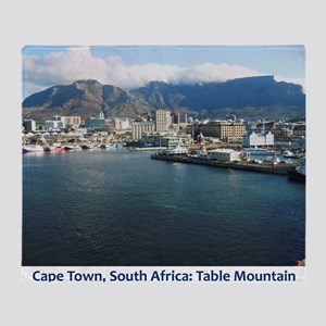 Table Mountain Title Throw Blanket