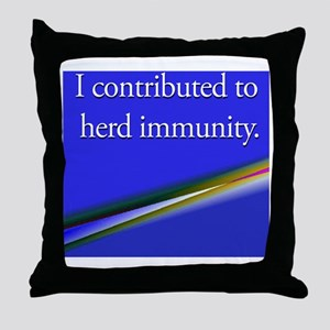 herdimmunity Throw Pillow