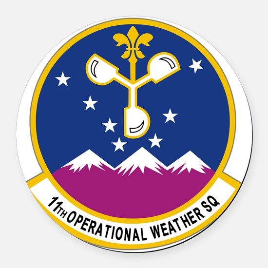 11th Op WX Sq (Color) Round Car Magnet