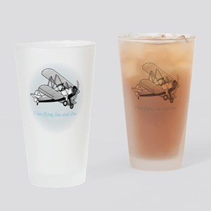 biplane low and slow Drinking Glass