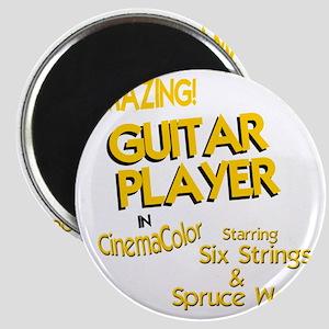 old movie guitar player design Magnet